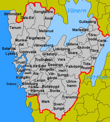 Dalsland Geography - Sweden map län